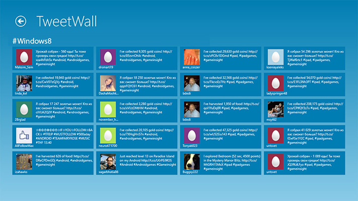 Tweet wall in un Evento Streaming a Roma