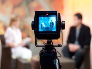 videocamera in una diretta streaming live