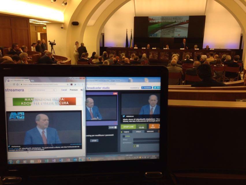Streaming live alla Presidenza del Consiglio