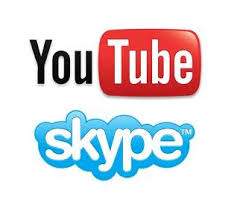 Logo di Youtube e Skype