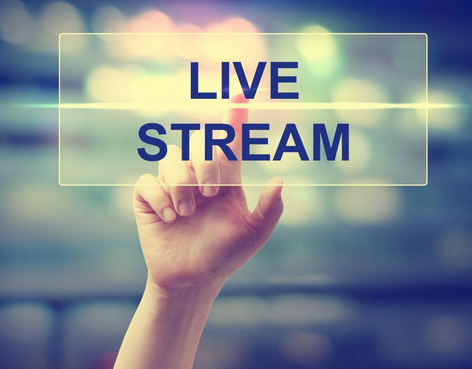 "Scritta ""Live Stream"""