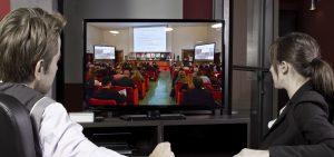lo streaming trasmesso e riprodotto su monitor