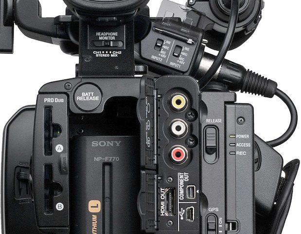 Camera Sony: prese audio